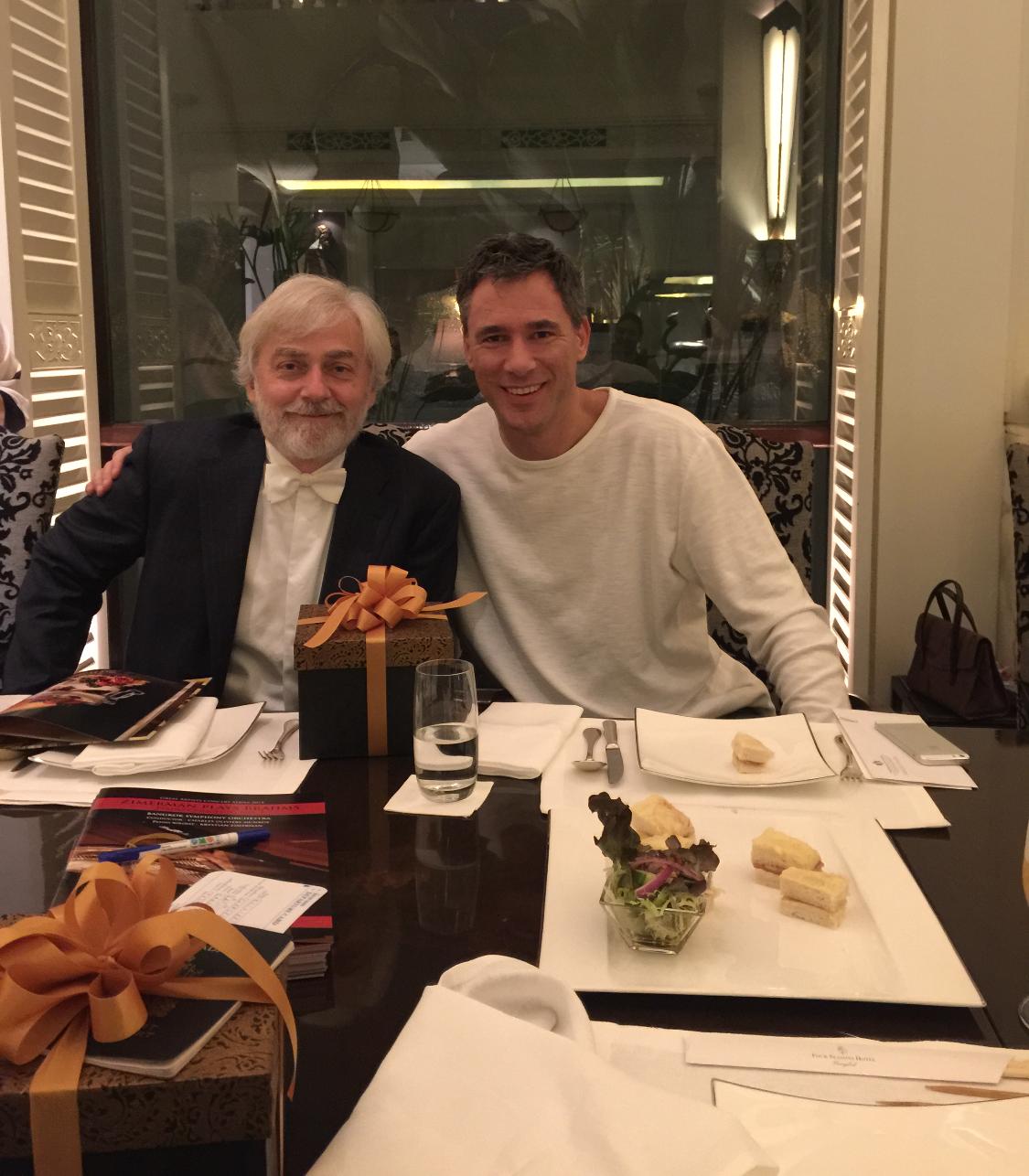 With Krystian Zimerman in Bangkok