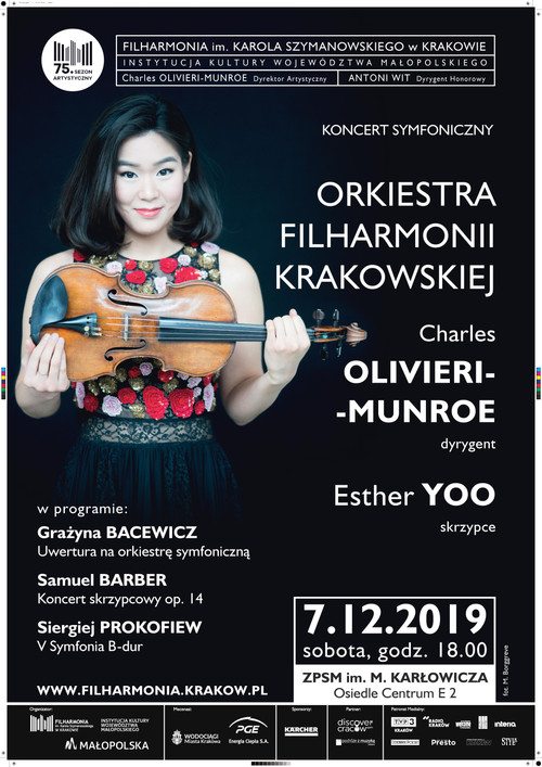 This week! Cracow Philharmonic performs Bacewicz Overture for Orchestra, Prokofiev Symphony No.5 and