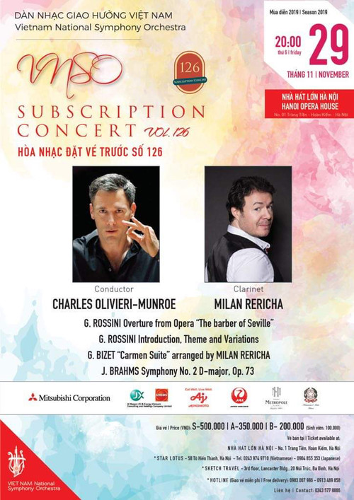 Tomorrow! Charles in Hanoi, Vietnam to conduct the Vietnam National Symphony Orchestra