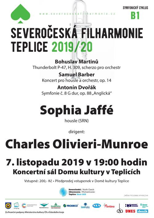 Martinu Thunderbolt P-47, Barber Violin Concerto (violinist Sophia Jaffe) Dvorak 8th Symphony with t