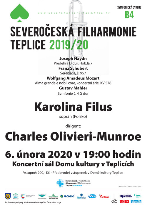 Tomorrow! The North Czech Philharmonic performs Mahler`s 4th Symphony