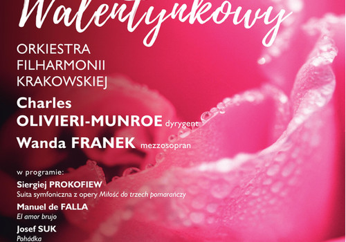 Charles conducts Valentines Concert in Cracow featuring music by Prokofiev, Suk, and de Falla
