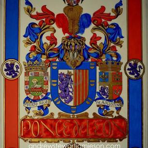 The armorial bearings of Juan Ponce de Leon