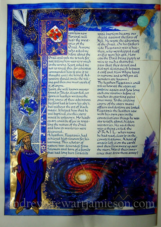 Illuminated Page from Parzival
