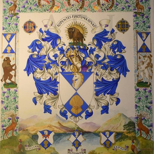 The Grand Armorial of the Baron and Laird of Kintyre, Hallyards and Lochmaben