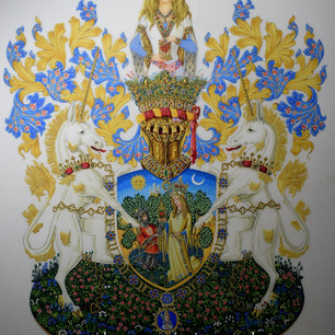 The Allegorical arms of The Captive Heart
