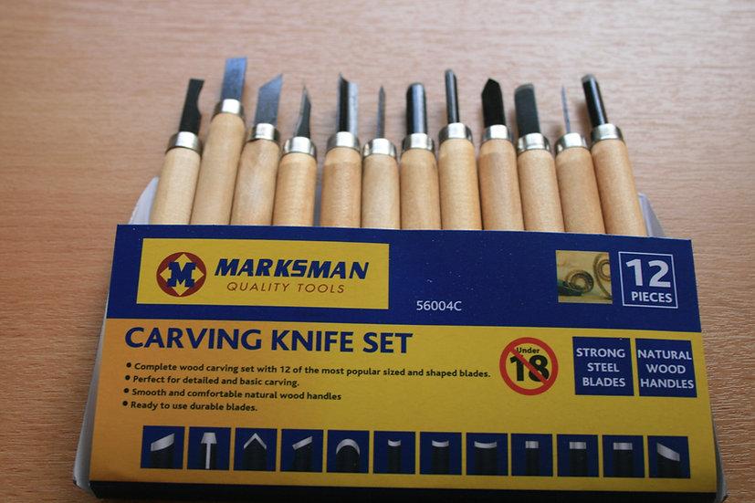 12 Piece Carving Knife Set
