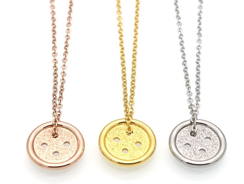 Boston Button Necklace