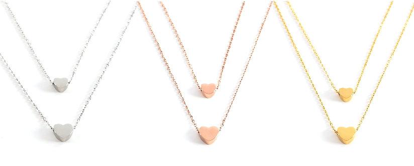 Lisboa Double Heart Necklace