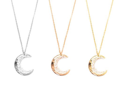 Hanoi Crystal Moon Necklace