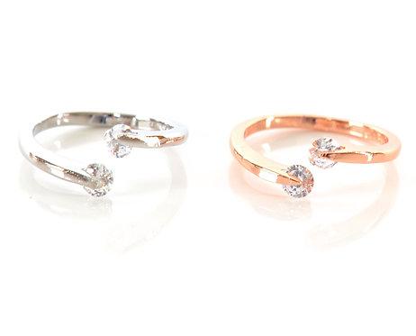 Prague Double Diamond Ring