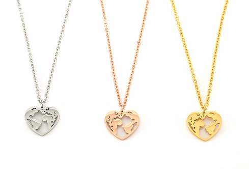 World Heart Necklace