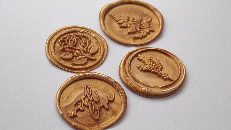 18ct Gold Wax Seals