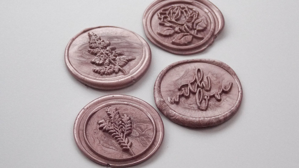 Rose Gold Wax Seals