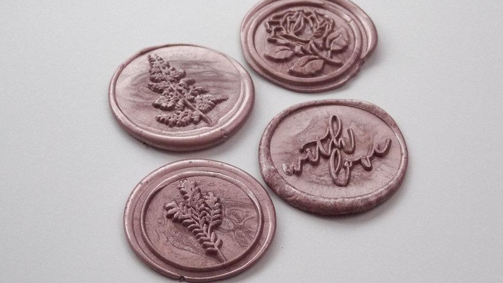 Rose Gold Wax Seals