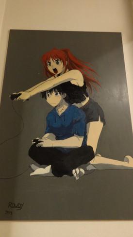 Manga schilderij