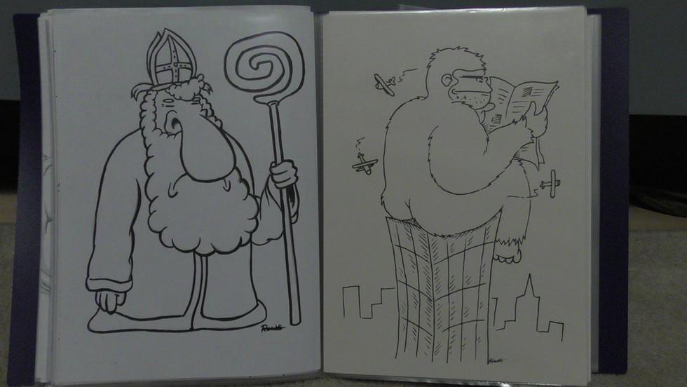 Cartoons Sinterklaas / king Kong