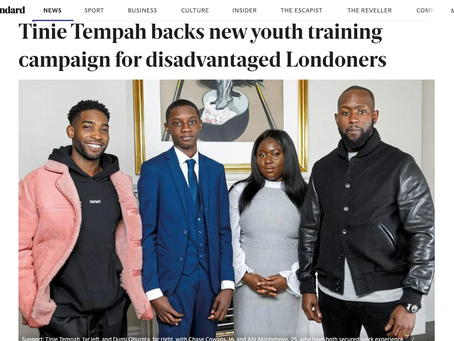 Tinie Tempah backs new youth training campaign for disadvantaged Londoners