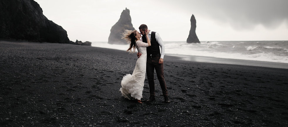 grayscale photography of groom and bride