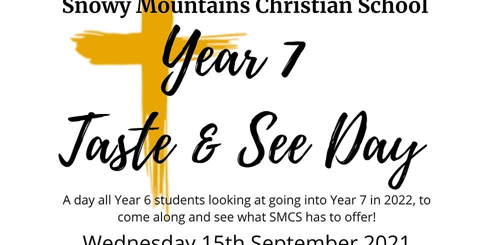 Year 7 2022 Taste and See