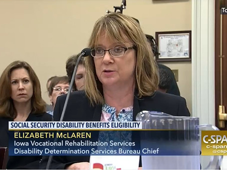 NCDDD testifies at House Ways and Means