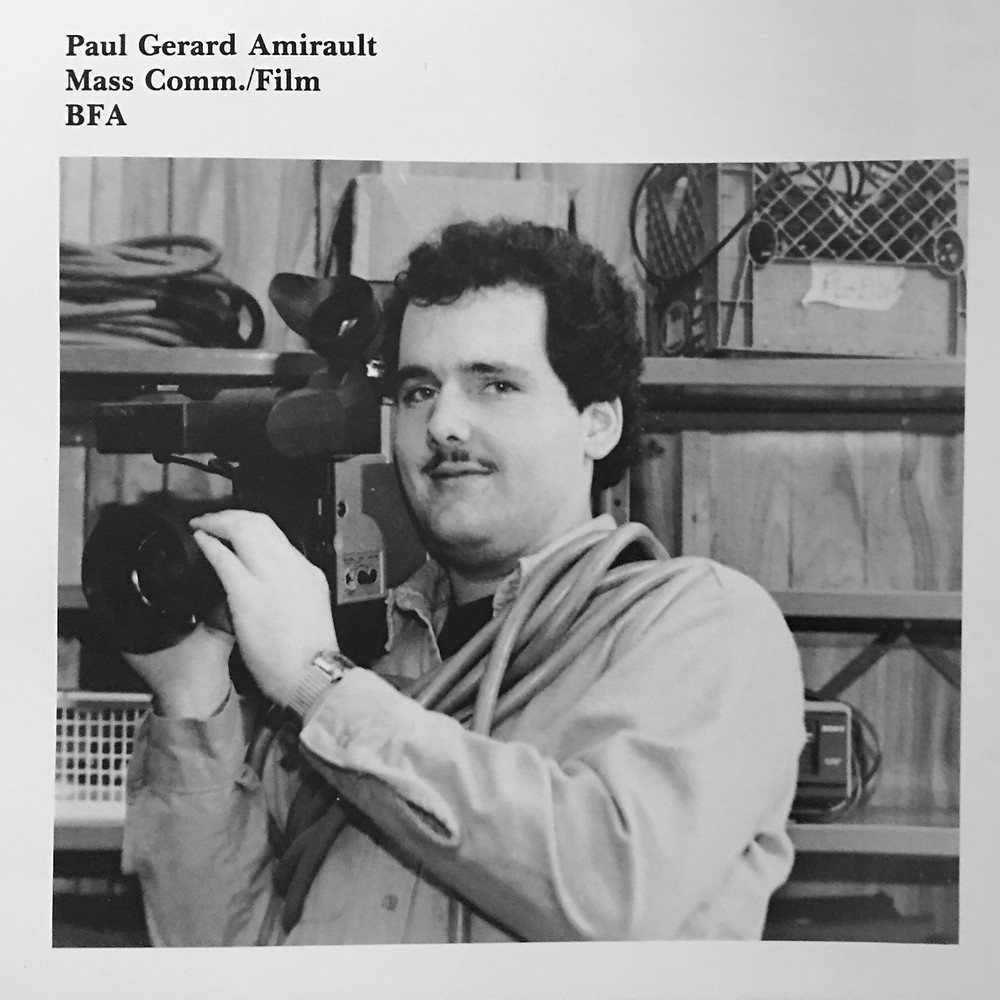 "Photo of Paul Amirault, author of ""The Man Who Sent the SOS: A Memoir of Reincarnation and the Titanic.""  The photo was taken in 1985, when Paul was a senior at Emerson College, in Boston, MA. Photo credit: Inc Pagliuca"