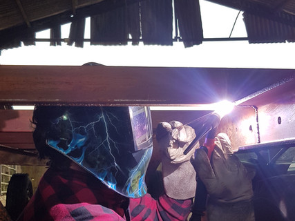 Tig Welding on location