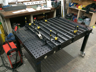 Jiging up on the precision table