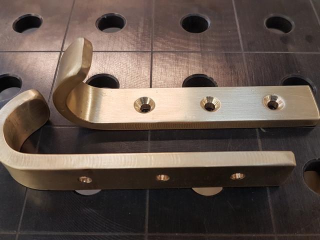 Shaping brass
