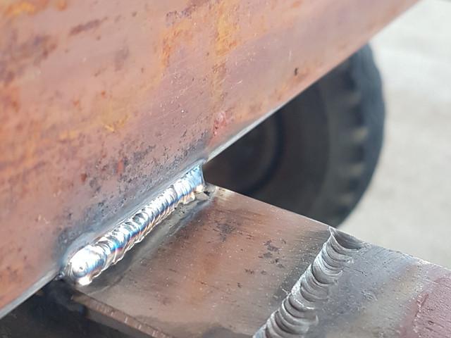 Tig welding on location