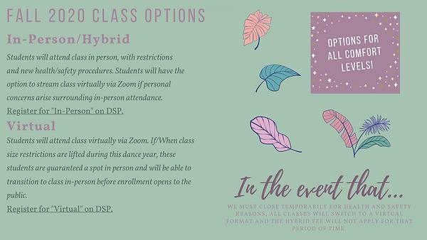 Fall 2020 Class Options (presentation).p