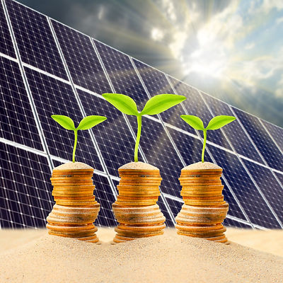 Investment in renewable energy. Business
