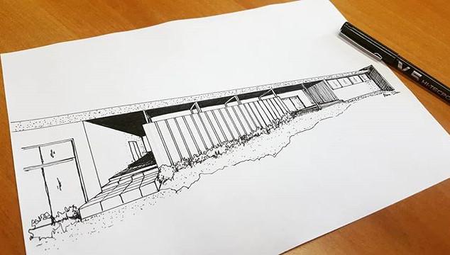 . ▶️ prospettiva una villa ad un piano @