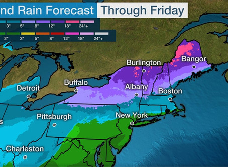 "Winter Storm Kade headed our way - up to 13"" of snow!"
