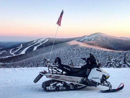 Scenes from the Trails at Snowmobile Vermont!