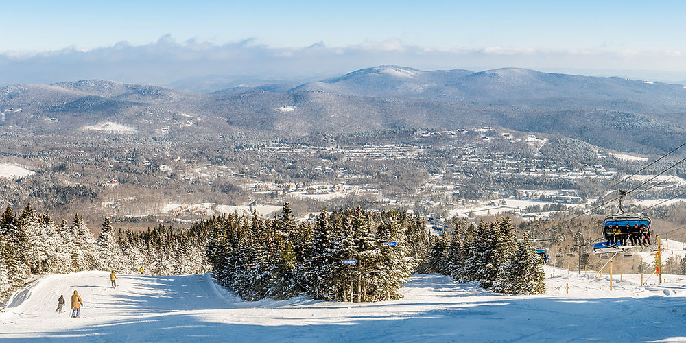 Mount Snow scenic vista winter