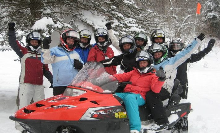 Corporate retreat outings snowmobile tours
