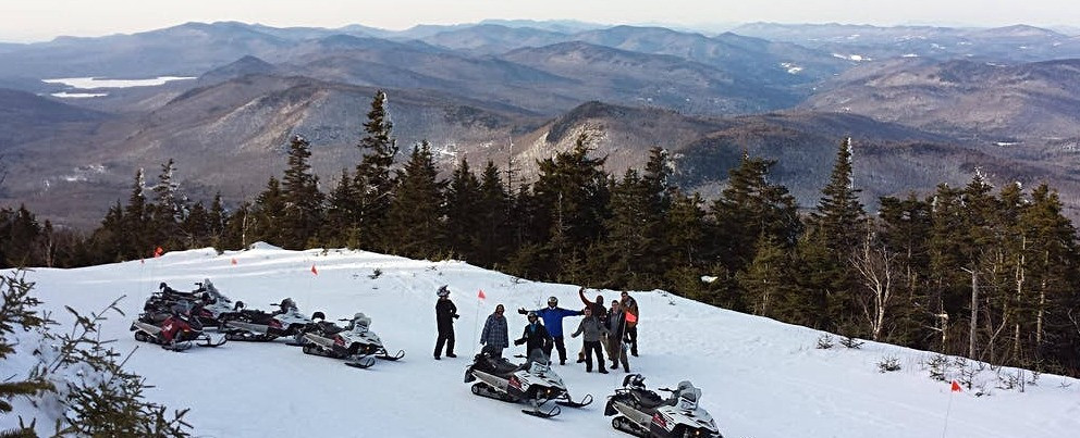 Vermont snowmobile tours for company groups