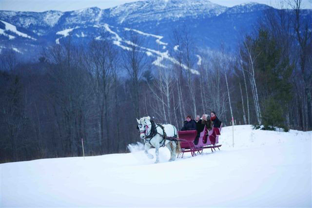 Stowe VT sleigh rides