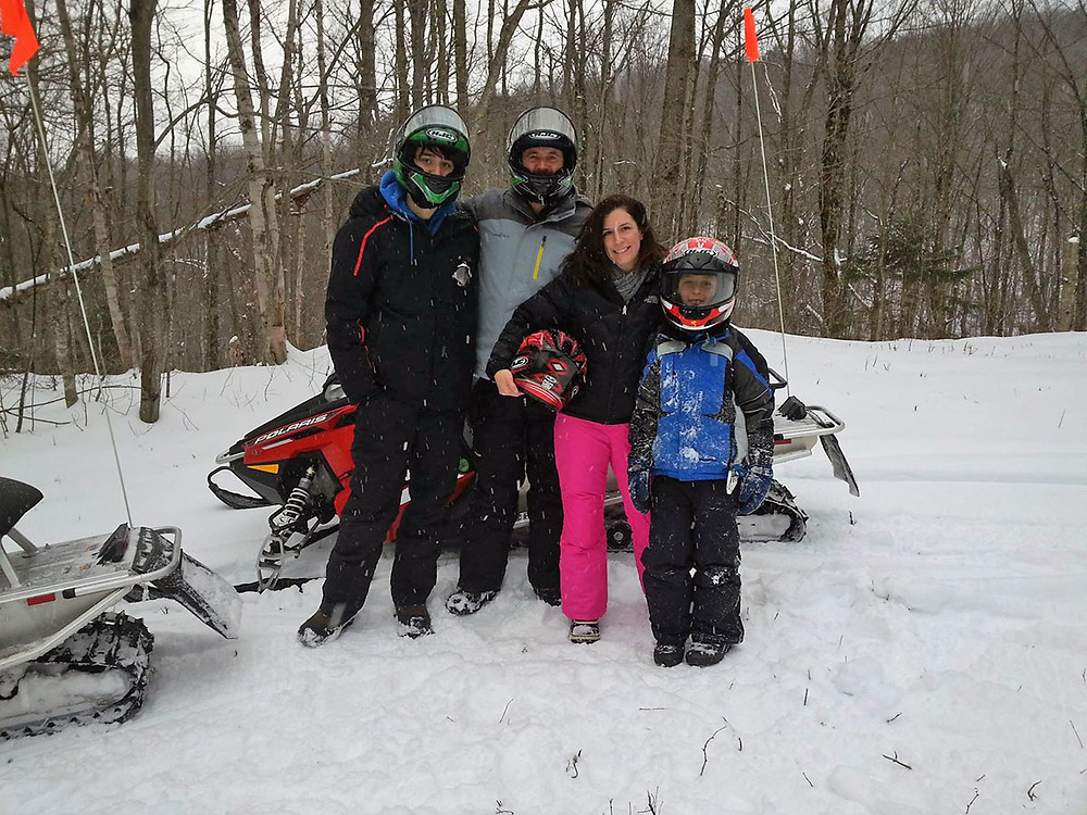 Snowmobile Vermont tours are fun for the whole family
