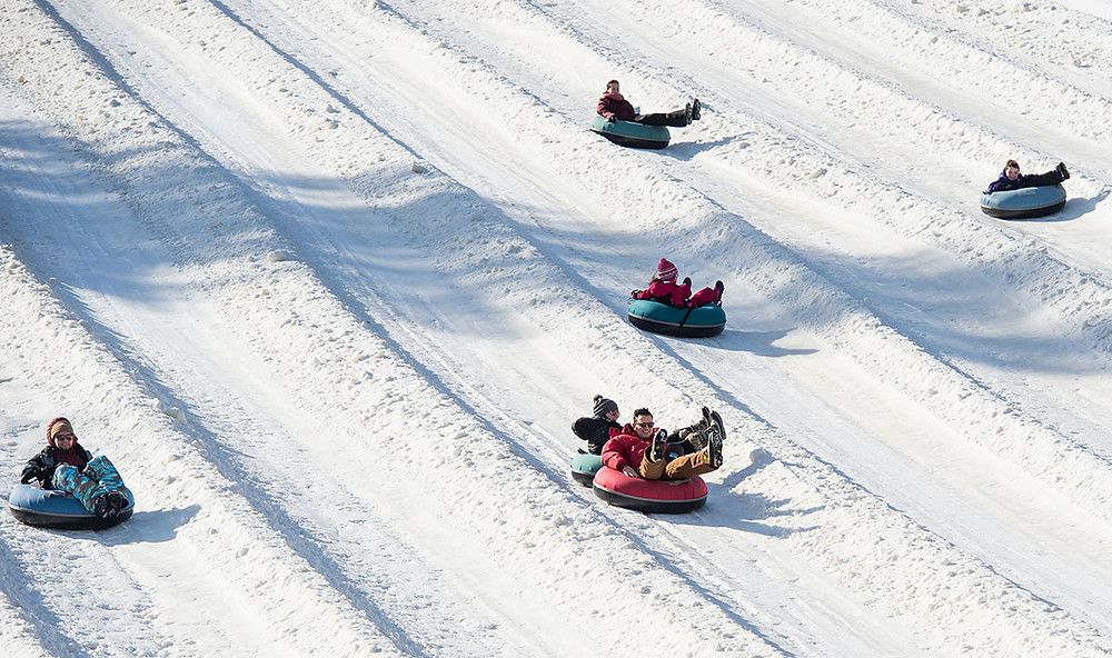 Snow tubing at Mount Snow Resort
