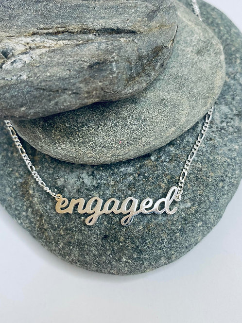 """""""engaged"""" Necklace"""