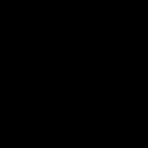 Medium Square with Thick Diagonal Stripes Black