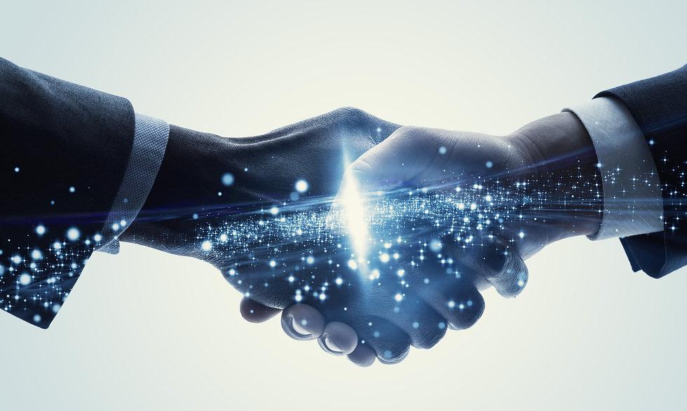 Partnership of business concept. Teamwor