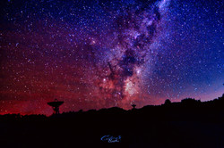 Warkworth radio telescope nightsky 1st M