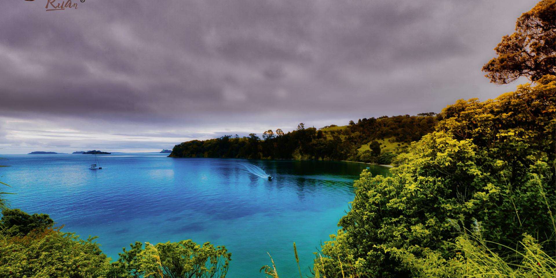 Landscape in Tawharanui Peninsula - onli