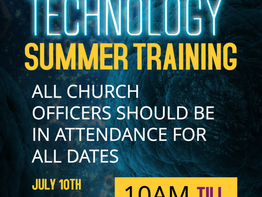 Technology Summer Training Classes HAVE STARTED!