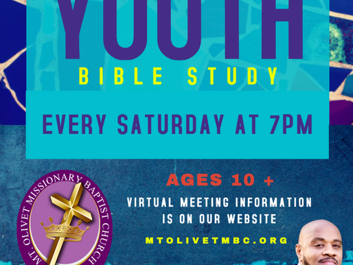 NEW Youth Bible Study!