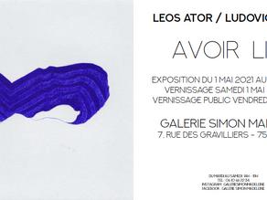"""Exposition """"Avoir lieu"""" à la galerie Simon Madeleine à Paris en mai"""