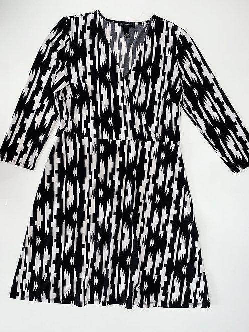 Faux Wrap print dress